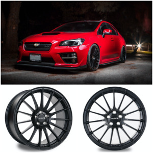 Ambit Monoblock Forged Re02 f Matte Black Wheels 18x9 5 38 5x114 Sti Wrx Rs05rr