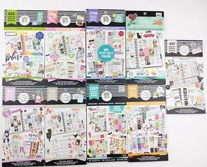 Lot Of 9 Create 365 The Happy Planner Sticker Books Used And New