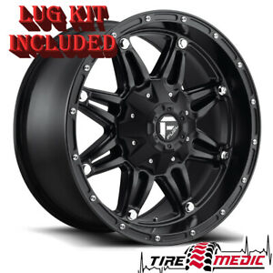 4 New Fuel Hostage D531 Matte Black 17x9 5x127 5x5 Wrangler Rims Wheels 1