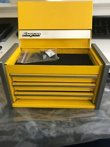 Snap On Mini Micro Top Chest Tool Box Rare Brand New Kmc923aper Yellow