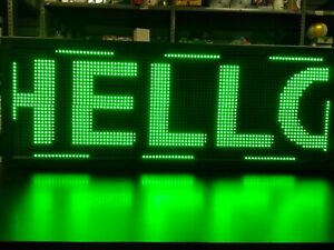 Wifi Programmable Led Sign 40 x15 Green Scrolling Message Board