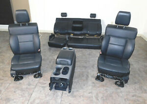 2004 05 06 07 08 Ford F150 Lariat Complete Front Rear Seat Set W Center Console