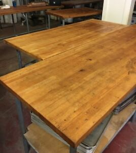 Wood Top Bakery Table 11feet 8 6 Almost All Sizes Maple Top High Quality