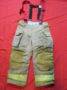 Securitex 36 X 26 Turnout Bunker Pants Thermal Zip out Liner Suspenders