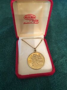 Coca Cola 1977 Bar Coin Necklace NIB Rare Minted fine silver w 24kt GP