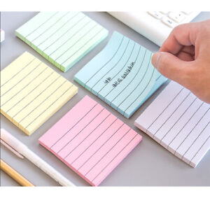 Lot 3 10 25 Set Sticky Notes Lined 3 X 3 Inch Bulk Memo Pad Book Bookmark Paper