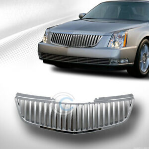 Fits 06 11 Cadillac Dts Chrome Vertical Front Hood Bumper Grill Grille Guard Abs
