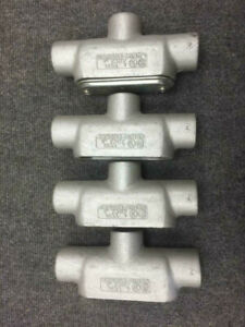 Crouse hinds Tb 37 1 Tb Unilet Mall Iron Condulet lot Of 4