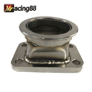 Stainless Steel T3 4 bolt To 2 5 V band Turbo Charger Flange Conversion Adapter