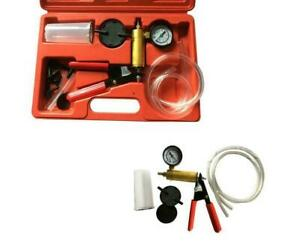 2 In 1 Brake Fluid Bleeder Hand Held Vacuum Pistol Pump Tester Kit W Case