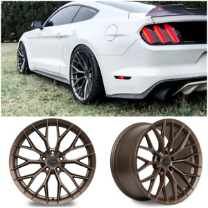 Ambit Fc20 Flow Formed Bronze Staggered Wheels 19x9 19x10 5x114 3 Mustang Q60