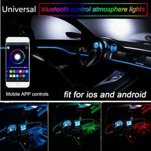 App Control 6m Rgb Led Dash Board Interior Atmosphere Lights Neon Strip Lights
