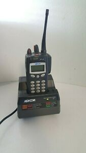 Ma com Harris P7100 Ip 2 Way Radio With Charger Battery Antenna