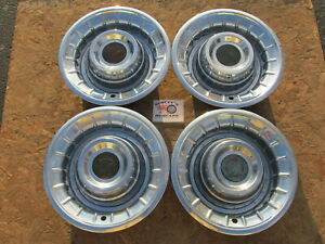 1956 Cadillac Eldorado Deville Series 62 Fleetwood 15 Wheel Covers Hubcaps