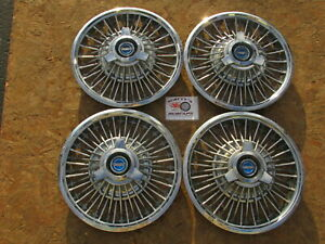 1965 67 Ford Mustang Fairlane 14 Wire Spinner Wheel Covers Hubcaps Set Of 4