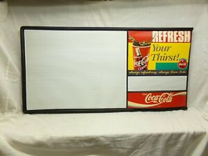 Used 6ft Coca-Cola Menu Board w/ letters & numbers Coke sign Advertising 2 piece