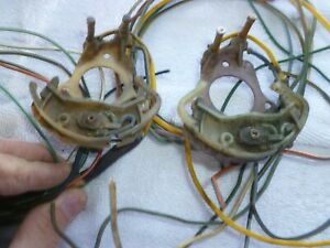 1965 1966 Mustang Steering Column Turn Signal Switches W Cut Wires Parts 65 66