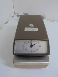 Amano Time Date Stamp Punch Clock 4746 No Key W Ink Ribbon