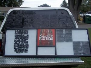 Huge! New Coca-Cola Menu Board w7 sets/3 Diff sizes of letters numbers & symbols