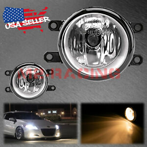 Pair Of Fog Light Clear Lens Replacement Oem Grade For 09 13 Toyota Venza T4