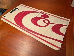 Coca Cola 1900s Part Of Early Canvas Banner Display Sign From Allan Petretti