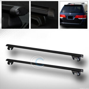 50 Black Oval Adjustable Roof Rail Rack Cross Bars Cargo Luggage Carrier Kit C1
