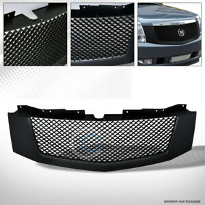 Fits 07 14 Cadillac Escalade ext Matte Black Mesh Front Hood Bumper Grill Grille
