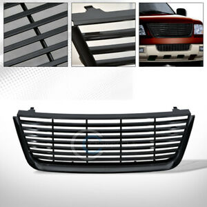 Fit 03 06 Ford Expedition Glossy Black Horizontal Front Hood Bumper Grill Grille