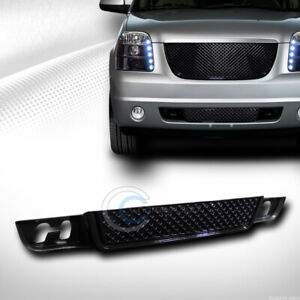 Fits 07 14 Gmc Yukon xl denali Glossy Black Mesh Front Lower Bumper Grill Grille