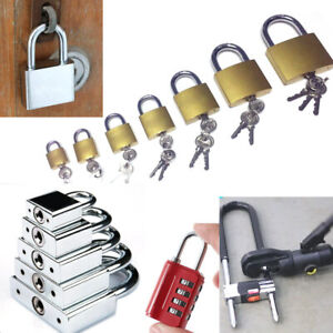 Stainless Steel Padlock Door Gate Drawer Box Lock High Security Safety Tool New