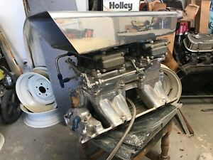 Weiand Tunnel Ram w 2 600 Cfm Holley Carbs