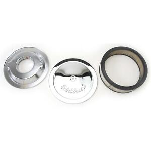 Edelbrock 1221 Pro Flo Chrome Air Cleaner Assembly Round 3 Inch