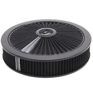 Edelbrock 43662 Pro flo High Flow Air Cleaner Assembly round 3in blk