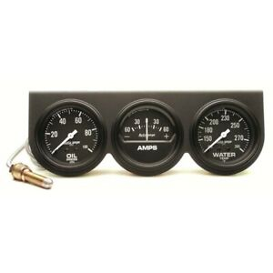 Autometer 2394 Auto Gage 3 Gauge Console Oil amp water