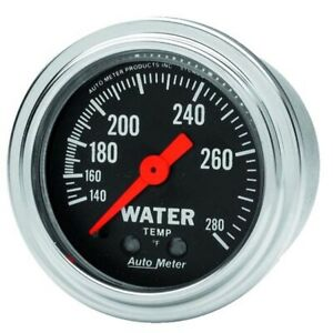 Autometer 2431 Trad Chrome Mechanical Water Temperature Gauge
