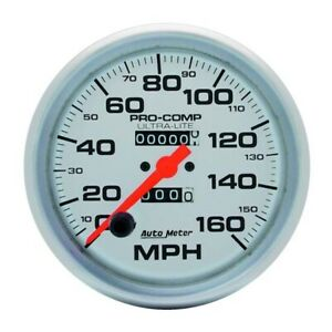 Autometer 4495 Ultra Lite Mechanical Speedometer 160 Mph 5 Inch