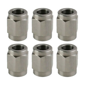 Stainless Steel 3 An Fitting Tube Nuts 6 Pk