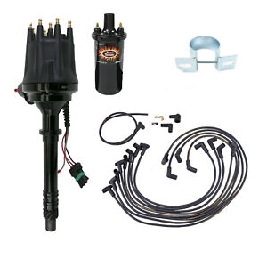 Ready To Run Pro Billet Distributor W Coil And Wires Sbc Black