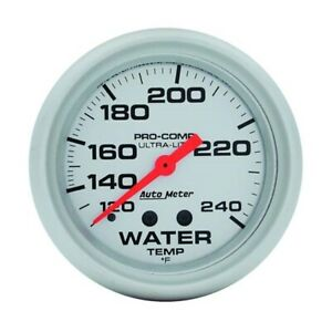 Autometer 4432 Ultra lite Mechanical Water Temp Gauge 2 5 8
