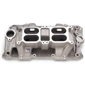 Edelbrock 7525 Performer Rpm Air Gap Dual quad Intake Manifold Chevy