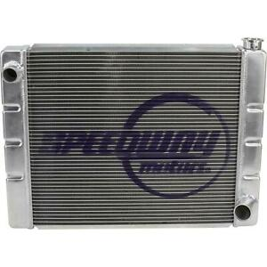 Speedway Chevy Sbc bbc Universal High Performance Aluminum Radiator 28x19 Inch