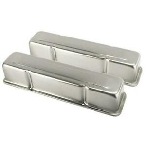 Speedway Small Block Chevy Sbc 305 350 400 Tall Raw Unpainted Steel Valve Covers