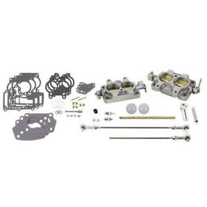 Speedway Motors Tri power Junkyard 2bbl Rochester Carb Conversion Kit W Linkage