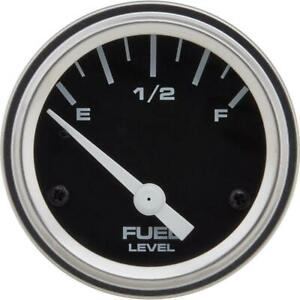 Speedway Motors Universal 12v Fuel Level Gauge With Sender 2 1 16 Inch Black