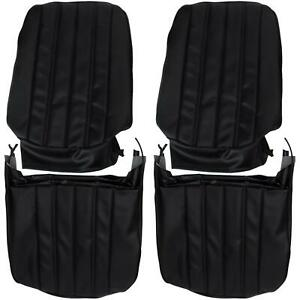 Pui 66as10u Bucket Seat Upholstery 1966 Chevelle El Camino Black