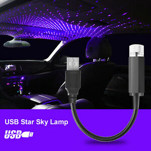 Plug Play Usb Car Star Night Light Led Starry Decor Projector Lamp For Party