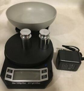 Scale Removable Bowl Weight Lb 1000 Clay Craft Coin Jewelry Batt Adapter Aws Cal