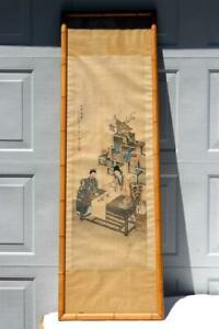 Antique Chinese Scroll Painting Women Painting