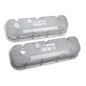 Holley 241 87 M T Valve Covers Bbc Engines Natural Cast Finish