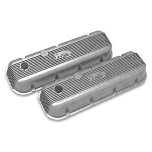 Holley 241 300 Bbc Finned Valve Covers Natural Cast Finish